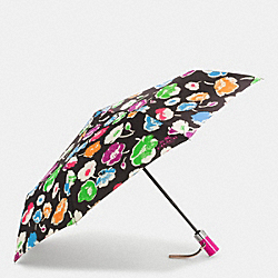 EXPLODED WILDFLOWER PRINT UMBRELLA - f65810 - SILVER/RAINBOW MULTI