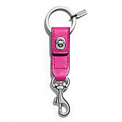TURNLOCK TRIGGER SNAP KEY RING - f65816 - SILVER/BRIGHT MAGENTA