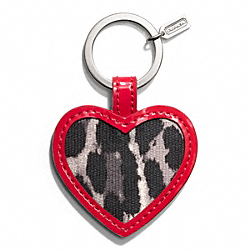 COACH PARK OCELOT PRINT MIRROR KEY RING - ONE COLOR - F65818