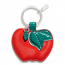 COACH APPLE MOTIF KEY RING - ONE COLOR - F65819