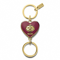 HEART VALET KEY RING COACH F65820