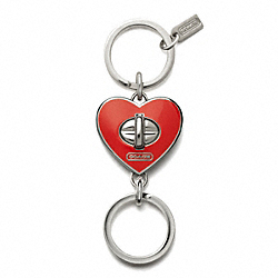 COACH HEART VALET KEY RING - ONE COLOR - F65820