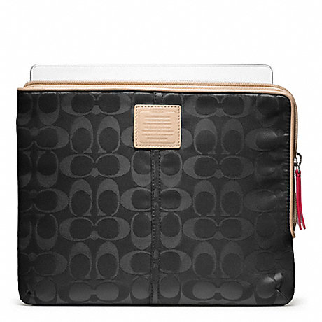 COACH LEGACY WEEKEND NYLON L-ZIP IPAD SLEEVE -  - f65856