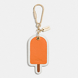 COACH POPSICLE BAG CHARM - LIGHT GOLD/ORANGE - F65868