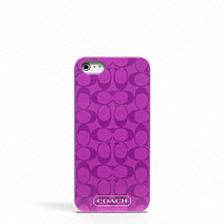 COACH EMBOSSED LIQUID GLOSS IPHONE 5 CASE - ONE COLOR - F65899