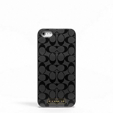 COACH EMBOSSED LIQUID GLOSS IPHONE 5 CASE - SILVER/BLACK - f65899