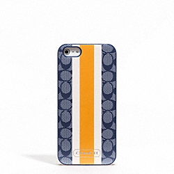 COACH SIGNATURE STRIPE PVC STRIPE IPHONE 5 CASE - ONE COLOR - F65904