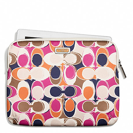COACH PARK HAND DRAWN SCARF PRINT EAST/WEST TABLET SLEEVE -  - f65938