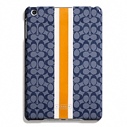 COACH SIGNATURE STRIPE PVC STRIPE MOLDED MINI IPAD CASE - ONE COLOR - F65949