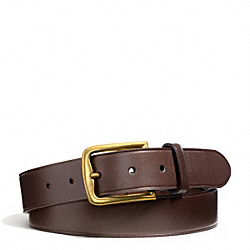 COACH PHILIP CRANGI HAMPTON BELT - MAHOGANY - F65959