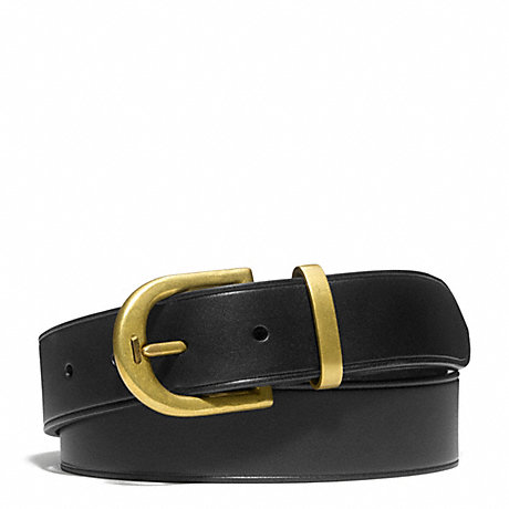COACH PHILIP CRANGI D-PRONG BUCKLE BELT - BLACK - f65966