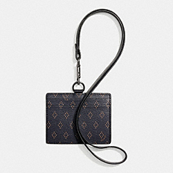 ID LANYARD IN FOULARD PRINT COATED CANVAS - f65969 - DIAMOND FOULARD