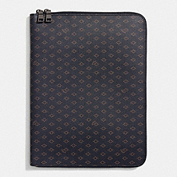 COACH TECH PORTFOLIO IN FOULARD PRINT COATED CANVAS - DIAMOND FOULARD - F65972