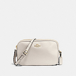 CROSSBODY POUCH IN PEBBLE LEATHER - f65988 - IMITATION GOLD/CHALK