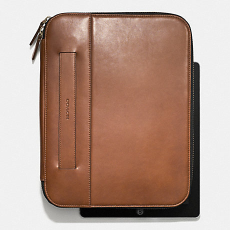 COACH BLEECKER TABLET ORGANIZER IN LEATHER -  FAWN - f66006