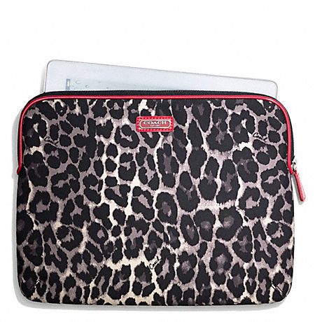 COACH PARK OCELOT PRINT EAST/WEST TABLET SLEEVE -  - f66012