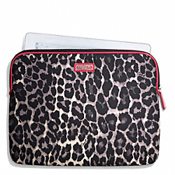 PARK OCELOT PRINT EAST/WEST TABLET SLEEVE COACH F66012