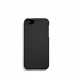 COACH CAMDEN LEATHER MOLDED IPHONE 5 CASE - BLACK - F66017