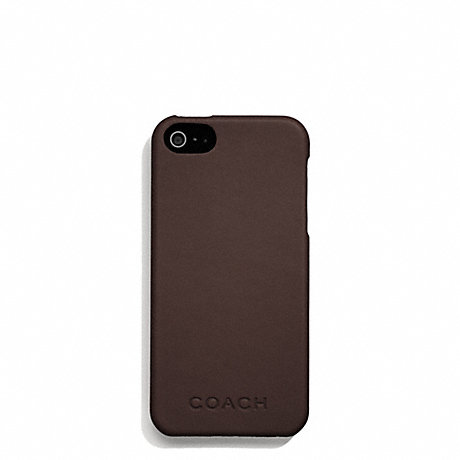 COACH f66017 CAMDEN LEATHER MOLDED IPHONE 5 CASE MAHOGANY