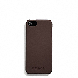 COACH CAMDEN LEATHER MOLDED IPHONE 5 CASE - MAHOGANY - F66017