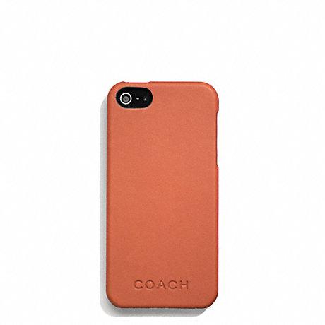 COACH f66017 CAMDEN LEATHER MOLDED IPHONE 5 CASE ORANGE