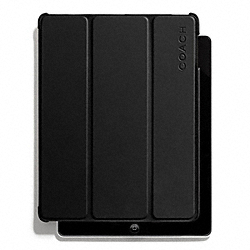 COACH CAMDEN LEATHER MOLDED IPAD CASE - BLACK - F66018