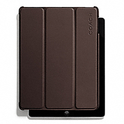 COACH CAMDEN LEATHER MOLDED IPAD CASE - MAHOGANY - F66018