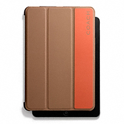 CAMDEN LEATHER STRIPED MOLDED IPAD MINI CASE COACH F66019