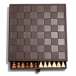 CAMDEN LEATHER CHESS SET COACH F66033