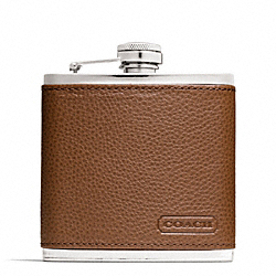 COACH CAMDEN LEATHER FLASK - ONE COLOR - F66036