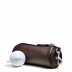 COACH CAMDEN LEATHER GOLF BALL SET - MAHOGANY - F66077