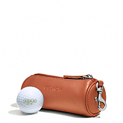 COACH CAMDEN LEATHER GOLF BALL SET - ORANGE - F66077