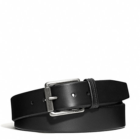 COACH HAMPTONS OVERSIZED SMOOTH LEATHER BELT - SILVER/BLACK - f66102