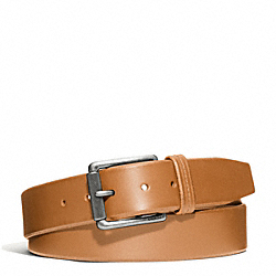 COACH HAMPTONS OVERSIZED SMOOTH LEATHER BELT - SILVER/SADDLE - F66102