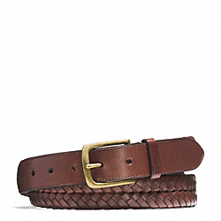COACH HERITAGE BRAIDED LEATHER BELT - ONE COLOR - F66104