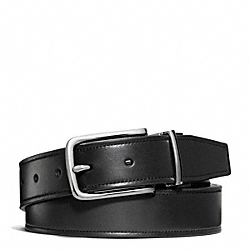 COACH HARNESS SMOOTH LEATHER CUT TO SIZE REVERSIBLE BELT - ONE COLOR - F66105