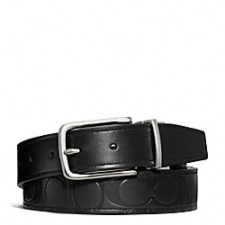 COACH HARNESS SIGNATURE EMBOSSED LEATHER CUT TO SIZE REVERSIBLE BELT - ONE COLOR - F66125