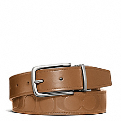 HARNESS SIGNATURE EMBOSSED LEATHER CUT TO SIZE REVERSIBLE BELT - f66125 - 27945