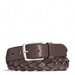 COACH HAMPTONS WOVEN LEATHER BELT - ONE COLOR - F66127
