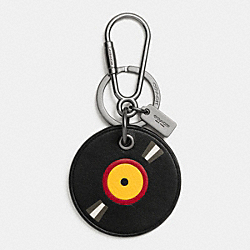 RECORD KEY RING - BLACK - COACH F66135