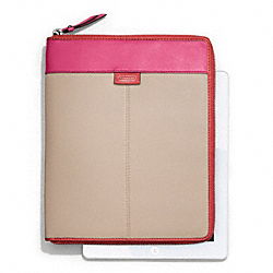 COACH DAISY SPECTATOR LEATHER ZIP IPAD CASE - ONE COLOR - F66156