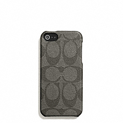 COACH HERITAGE STRIPE MOLDED IPHONE 5 CASE - SILVER/GREY/CHARCOAL - F66166
