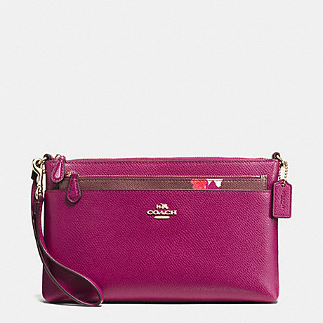 COACH WRISTLET WITH POP UP POUCH IN FIELD FLORA PRINT COATED CANVAS - IMITATION GOLD/FUCHSIA MULTI - f66182