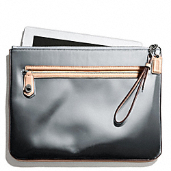 COACH POPPY MIRROR METALLIC LEATHER IPAD CLUTCH - ONE COLOR - F66230