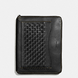COACH RIP AND REPAIR TECH CASE IN SPORT CALF LEATHER - BLACK - F66287