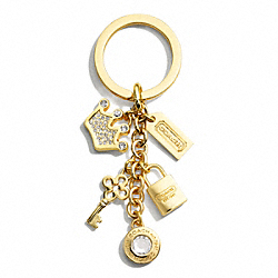 COACH CROWN MULTI MIX KEY RING - ONE COLOR - F66320