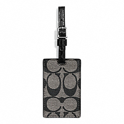 COACH PARK SIGNATURE LUGGAGE TAG - ONE COLOR - F66376