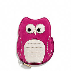 COACH OWL MOTIF COIN PURSE - ONE COLOR - F66419