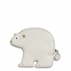 COACH POLAR BEAR MOTIF COIN PURSE - ONE COLOR - F66421