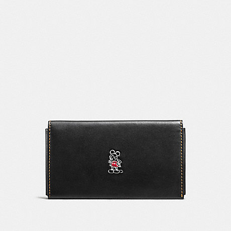 COACH MICKEY PHONE WALLET - BLACK - F66440
